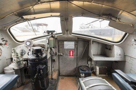 Driver cabin of a diesel locomotive