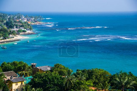 beautiful top view Unawatuna Sri Lanka, horizontal