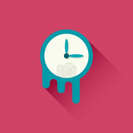 Melting clock icon