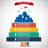 Infographic illustration of success