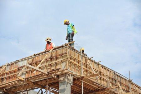 Roof beam and slab formwork