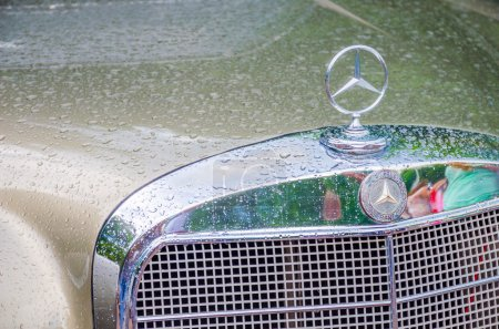 Retro car in Ukraine