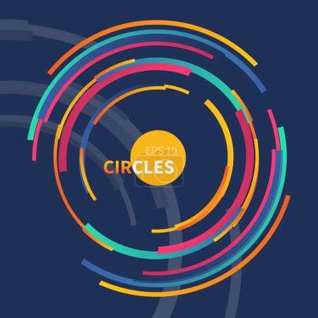 Abstract backdrop with circle