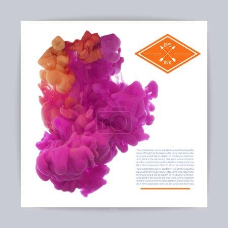 Rose and violet ink
