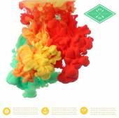 Textur der Farbe in Wasser
