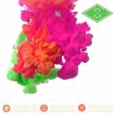Textur von Tinte in Wasser