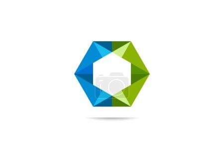 Hexagon balance business logo symbol design