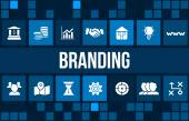 Branding  concept image with business icons and copyspace.