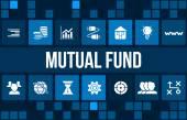 Podílový fond koncept obraz s obchodní ikony a copyspace