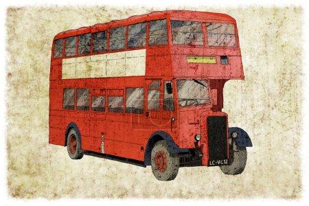Photo pour Transport de l'illustration numérique de monde london bus - image libre de droit