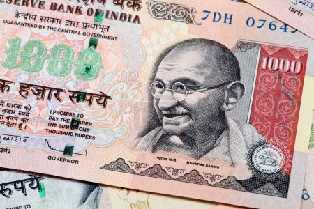 Gandhi on Indian currency note