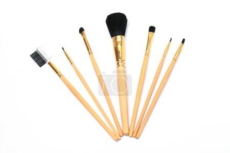 Make-up brushes on white