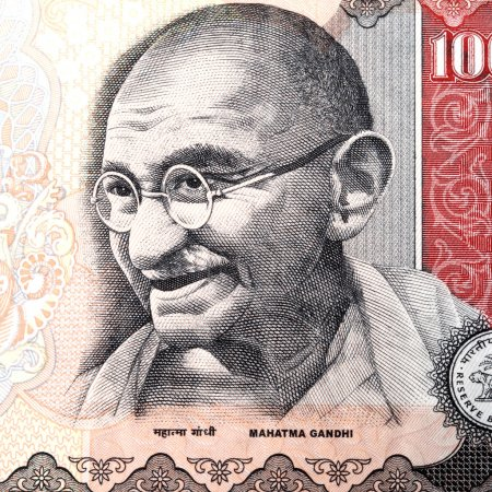 Gandhi on Indian rupee note