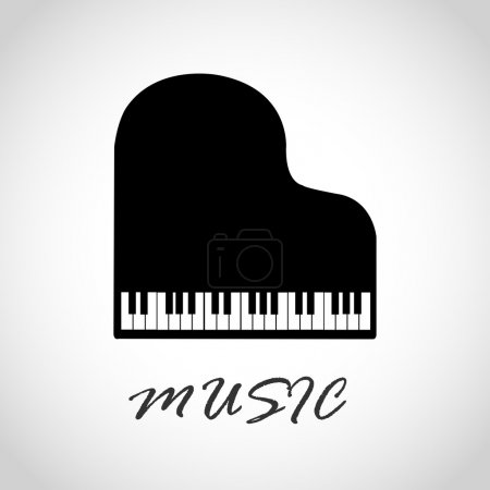 Illustration pour Piano, panneau musical. illustration vectorielle - image libre de droit