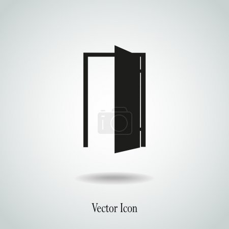 Illustration for Door vector icon illustration - Royalty Free Image