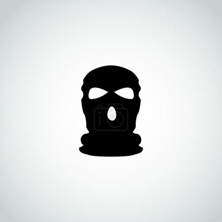 Mask terrorist vector sign...