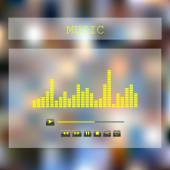 Music player with equalizer