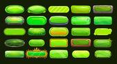 Funny cartoon green long horizontal buttons