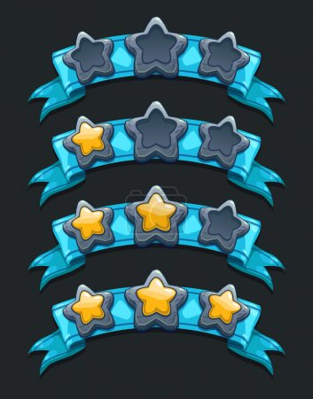 Cool cartoon game XP rating icons