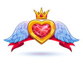 Cool vector ruby heart