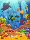 Underwater world vector illustration
