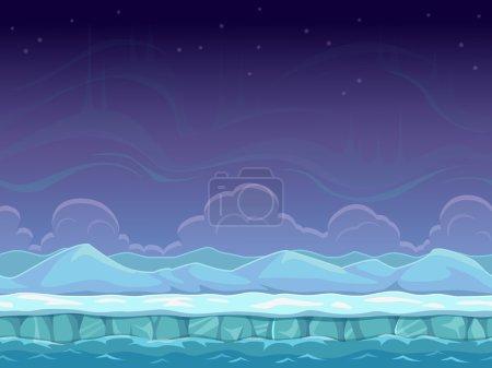 Cartoon arctic landscape