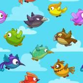 Cartoon flying birds
