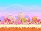 Seamless vector landscape of Candyland
