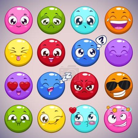 Cartoon round characters