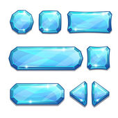 blue crystal buttons