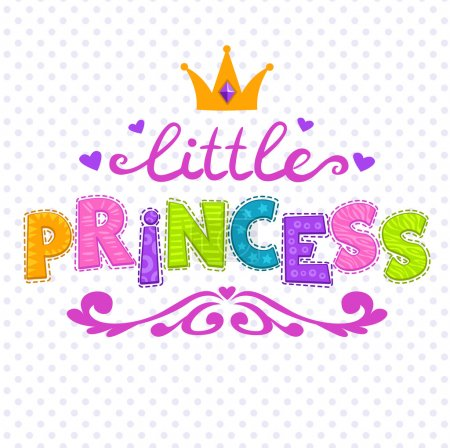 Cute vector illustration for girls t-shirt print, little princes