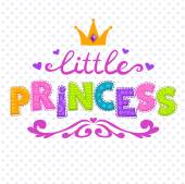 Cute vector illustration for girls t-shirt print little princes