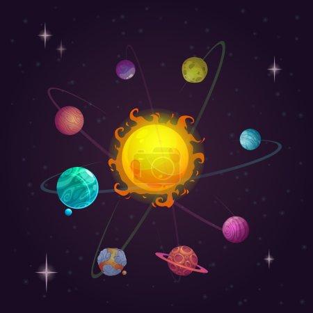 Fantasy solar system