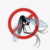 Mosquito warning sign