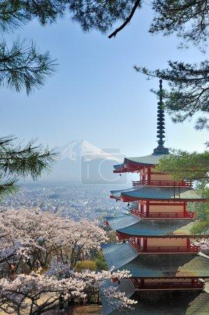 Chureito Pagoda and Fuji in Japan