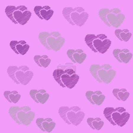 Photo pour Amour abstrait coeur doux pour saluer, carte de Saint-Valentin, fond rétro. Cartes de voeux aiment fond de coeur. Amour coeur doux forme pour saluer, amour rétro, motif vintage, fond . - image libre de droit