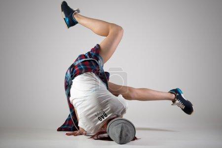 Teen breakdance girl dancing