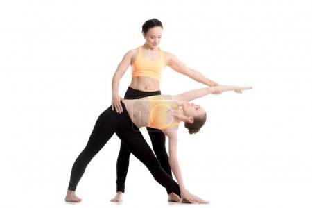 Yoga coaching, Trikonasana pose