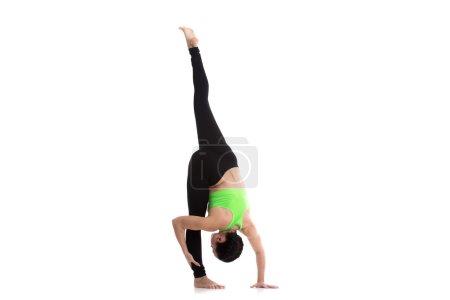 Urdhva prasarita eka padasana yoga pose