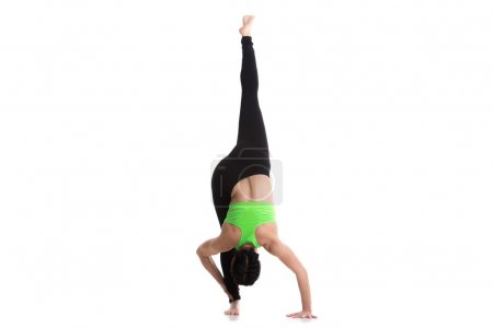 Standing split yoga pose