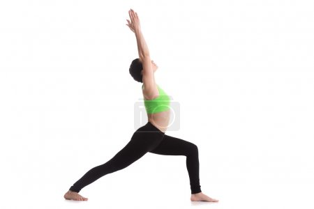 Deep lunge exercise, yoga asana Virabhadrasana I