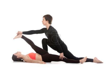 Yoga con entrenador