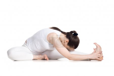 Head to Knee forward bend yoga asana
