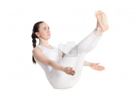 Full boat yoga pose