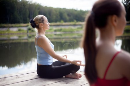 Meditation on yoga class