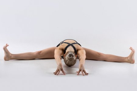 Wide-Angle Seated Forward Bend Pose