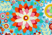 Abstraktní barvy akrylové malby na plátně