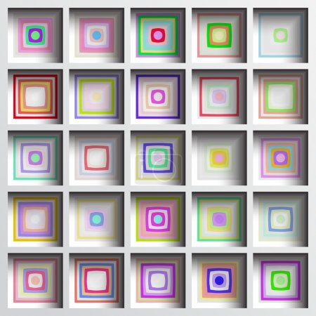 Geometric background with shadows