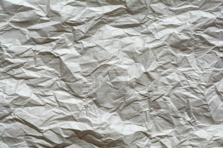 Crumpled paper texture, white, yellow, brown, gray paper sheet b