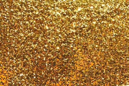 Holiday yellow glitter